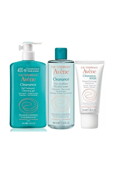 Avene Cleanance Gel Nettoyant 400 ml + Cleanance Cleansing Water 400 ml + Cleanance Mask 50 ml