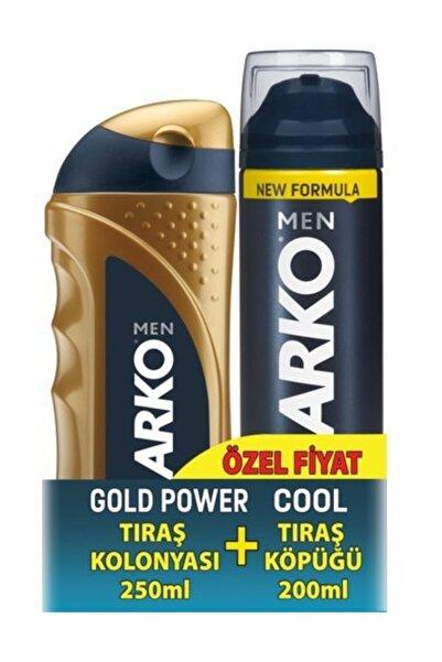 ARKO Tıraş Kolonyası Gold 250 Ml & Tıraş Köpüğü Cool 200 Ml