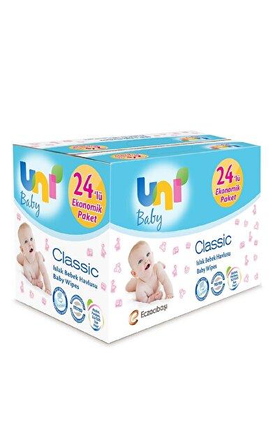 Uni Baby Classic Islak Mendil 1344 Yaprak - 24'lü Paket
