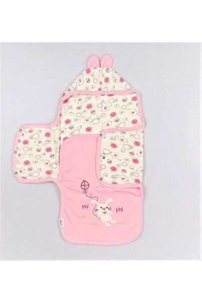 Bebe Tavşanlı Pembe Battaniye Kundak