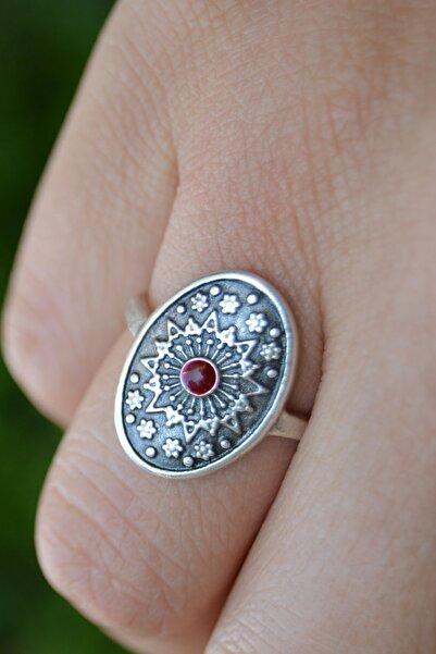 Stoneage Jewellery Gümüş Kaplama Mineli Bayan Yüzük