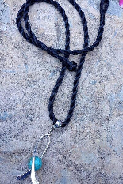 Stoneage Jewellery Mavi Akik Doğal Taş Kendine Güven Kolye