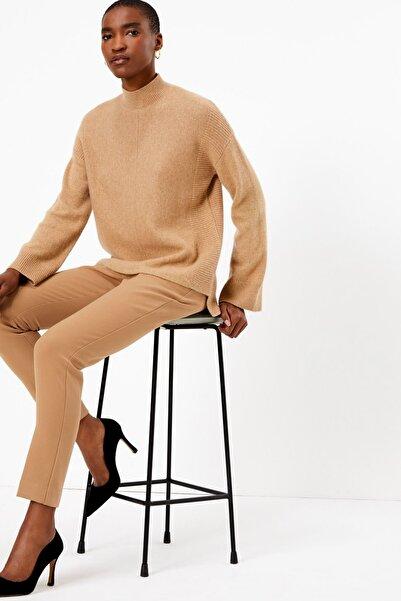 Marks & Spencer Kadın Ten Rengi Yüksek Belli Pantolon T53007137T
