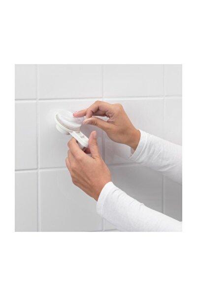 IKEA Tisken Vantuzlu Beyaz Plastİk Diş Firçalık
