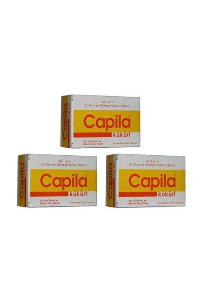 Capila Kükürtlü Sabun Sarı Kutu 90 gr x 3 Adet