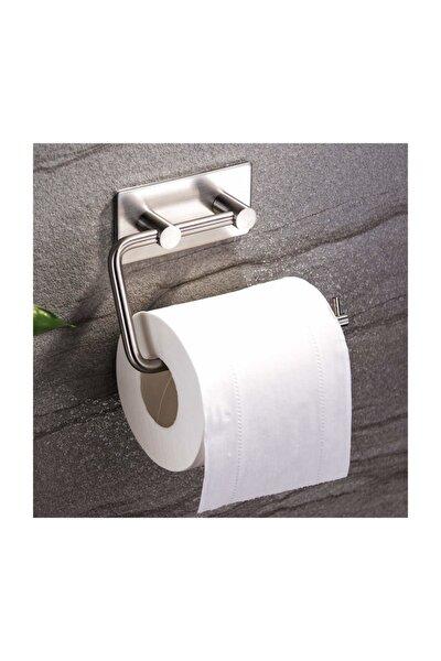 DELTAHOME Paslanmaz Çelik Tuvalet Kağıdı Aparatı - Yapışkanlı Sistem - Inox