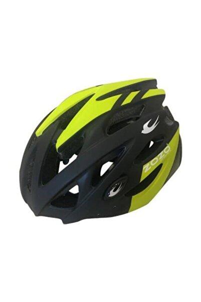 Zozo Mv 29 Siyah Lime Arka Led Lambalı Bisiklet Kaskı