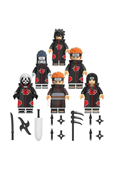 XINHONGXIN Naruto Akatsuki Üyeleri 6lı Mini Figür Set Naruto Anime St-12
