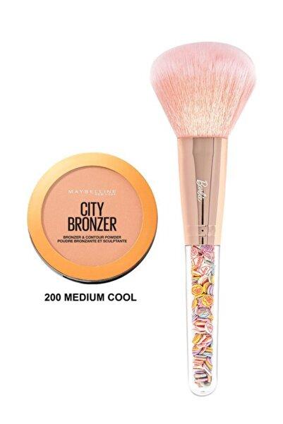 Maybelline New York City Bronze 200 Medium Cool+barbie Pudra Fırçası