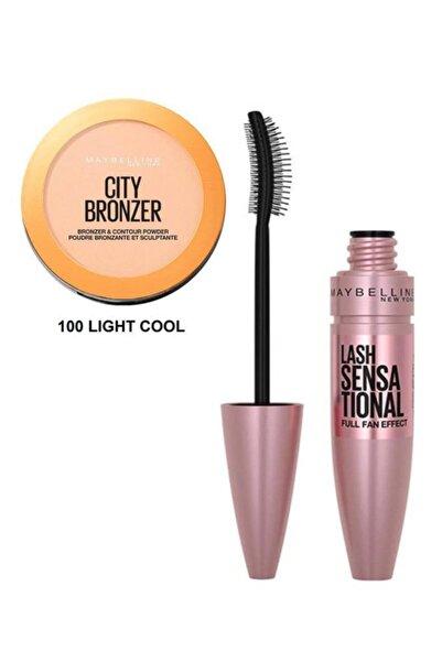 Maybelline New York City Bronze 100 Light Cool+lash Sensational Intense Black Maskara