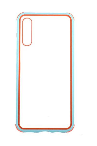 Aksesuarcım Samsung Galaxy A70 Kılıf Kenar Pastel Renkli Şeffaf Silikon Koruma