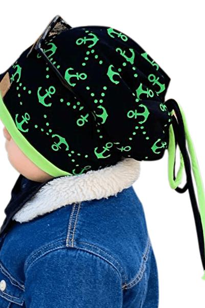 Babygiz Erkek çocuk yeşil siyah bere