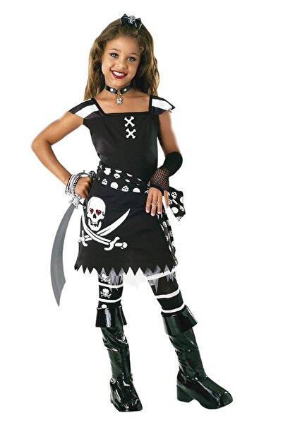 Herkese Kostüm Cadılar Bayramı Scarlet Korsan Kız Çocuk Kostümü 5-6 Yaş /
