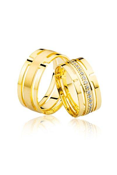 Harem Altın Kadın Lazer Kesim Altın Alyans 1104