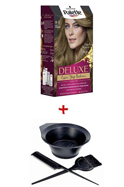 Palette Deluxe Saç Boyası 8-0 Bal Köpüğü + Boyama Seti