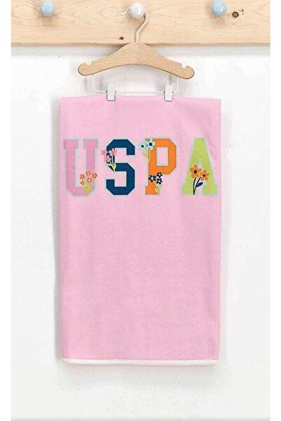 U.S. Polo Assn. Kids Kız Bebek Pembe Flowers Battaniye