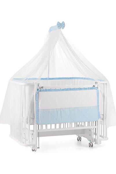 Meltem Smart Unisex Bebek Beyaz Bambino Sallanır Ahşap Anne Yanı Beşik - 70x110 cm