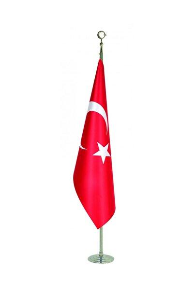 bayrakal Makam Bayrağı, Türk Bayrağı, Simsiz Krom Direkli 224cm.