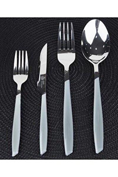 Beyaz 24 Parça Çatal Kaşık Bıçak Seti