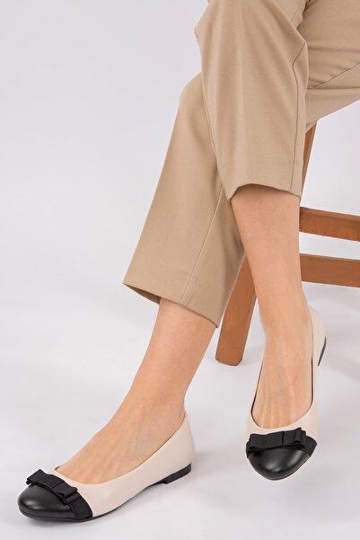 Fox Shoes Ten/Siyah Kadın Babet D726019509