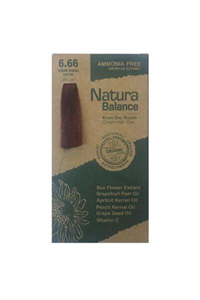 natura Balance Saç Boyası 6.66 Vişne Kızılı