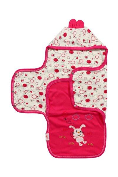 Bebe Tavşanlı Fuşya Battaniye Kundak