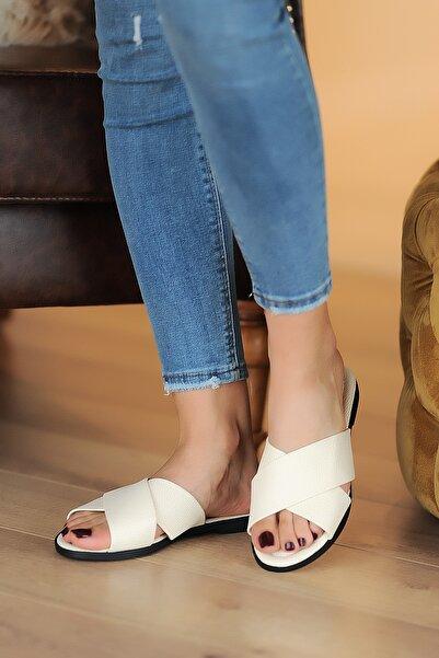 Pembe Potin Bej Kadın Sandalet A102-20