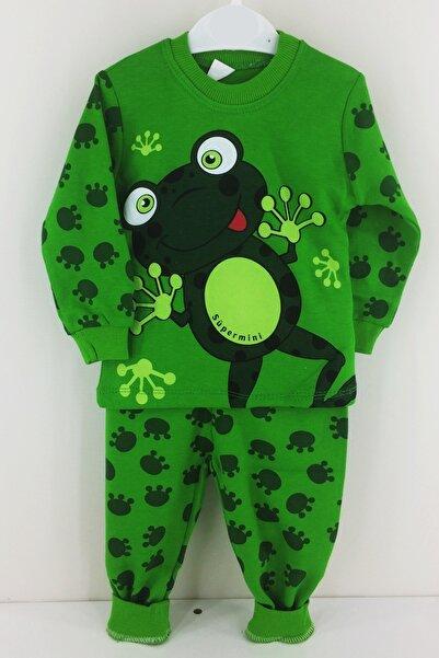 Süper Mini Baby Kurbağa Desenli Pijama Takımı 1-2-3 Yaş