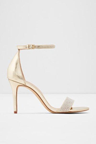 Kadın Altın Yüksek Topuklu Sandalet