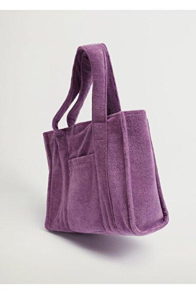 MANGO Woman Havlu Kumaş Shopper Çanta