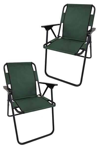 Bofigo 2 Adet Kamp Sandalyesi Katlanır Sandalye Piknik Sandalyesi Plaj Sandalyesi Yeşil.