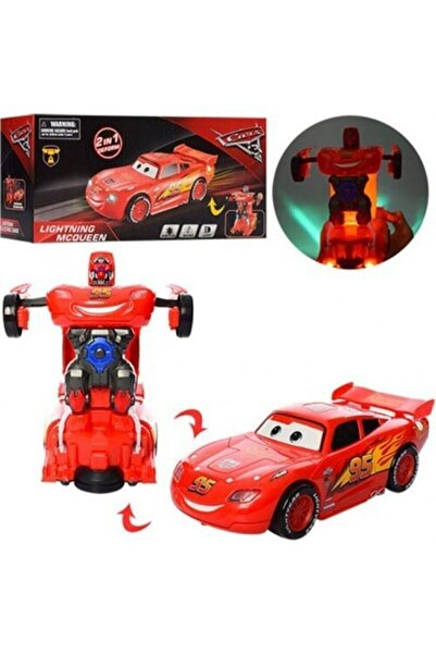SUDEN E-kids Cars Şimşek Mcqueen Robota Dönüşen Araba