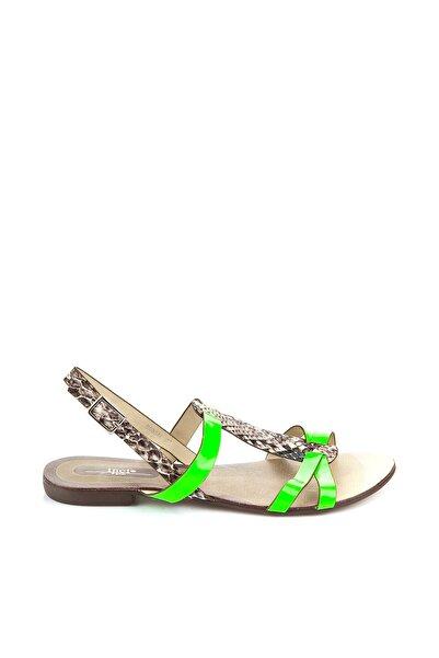 İnci Yeşil Kadın Sandalet 120117101719