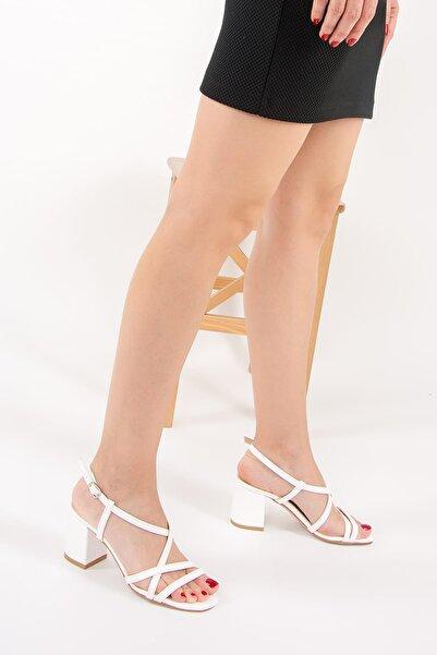 Fox Shoes Beyaz Kadın Topuklu Ayakkabı F654028009