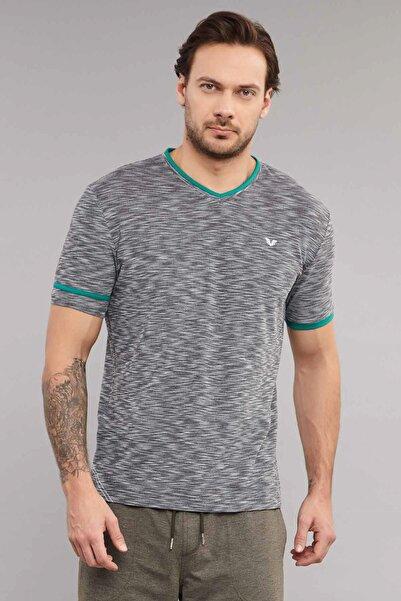 bilcee Siyah Pamuk/Poly Erkek T-Shirt ES-4069