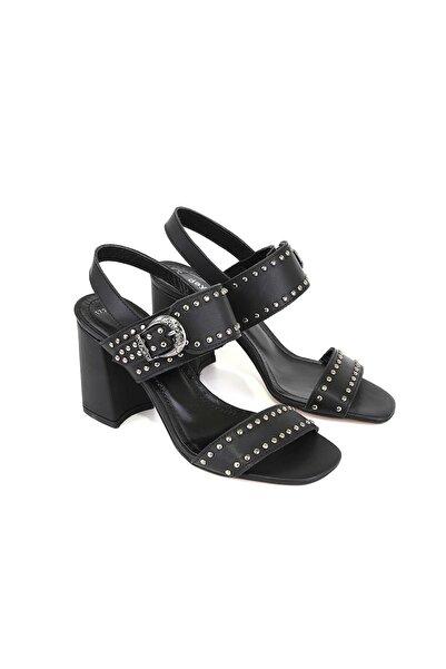 DayNnight Hakiki Deri Kadın Siyah Sandalet 17291