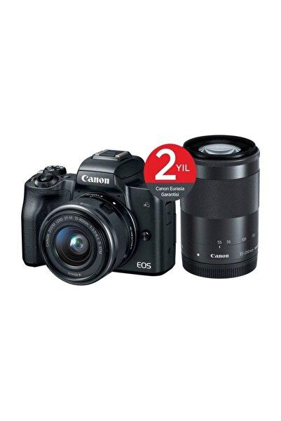 Canon EOS M50 + 15-45mm + 55-200mm Lens Aynasız Fotoğraf Makinası