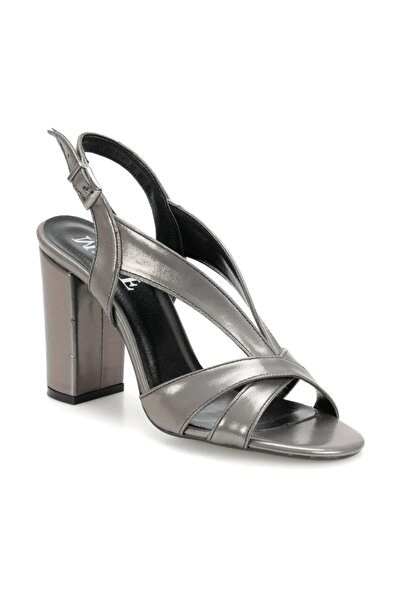 Miss F DS19065 Antrasit Kadın Topuklu Sandalet 100382336