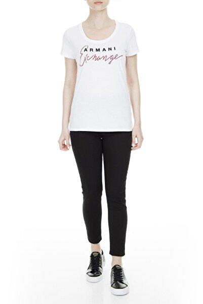 Armani Exchange Kadın Beyaz T-Shirt 3GYTCH YJX9Z 1000