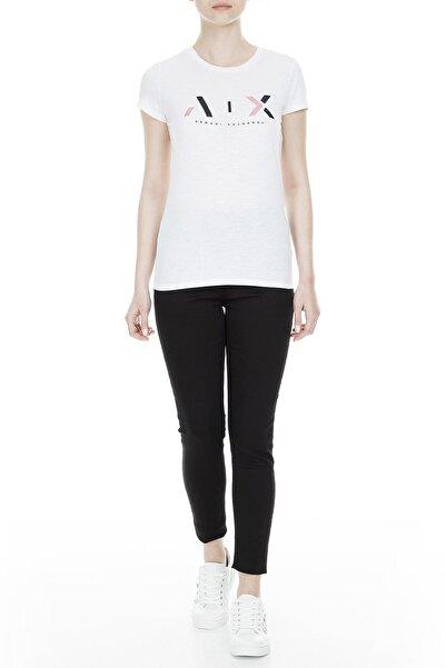 Armani Exchange Kadın Beyaz T-Shirt 3GYTBB YJS5Z 1000
