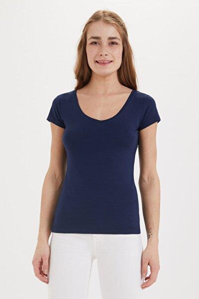 Lee Cooper Kadın Cindy V Yaka T-Shirt 192 LCF 242009