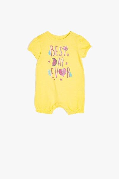 Koton Kız Bebek Ekru Tulum
