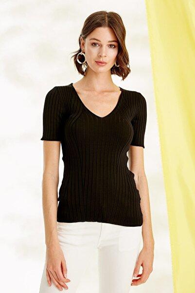 Journey Kadın Siyah Triko Bluz 19YTRK704