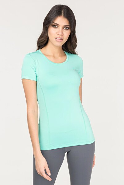 bilcee Turkuaz Kadın Antrenman T-Shirt FS-1735