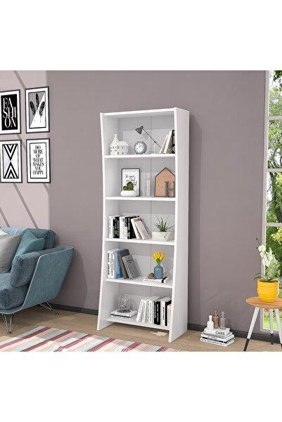 Ankara Mobilya Moons Beyaz 160 Cm Kitaplık