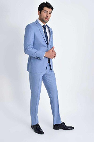 Hatemoğlu Slim Fit Mavi Takım Elbise 33202018C108