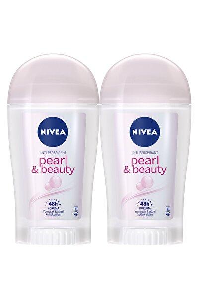 Nivea Pearl & Beauty Kadın Deodorant Stick 40 ml  2'Li