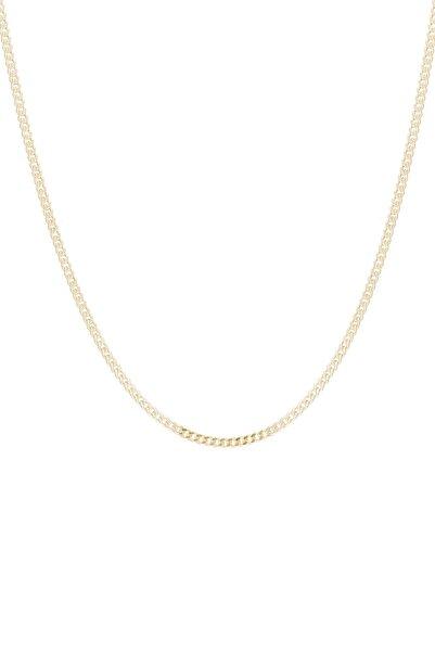 Glorria Gümüş Sarı Düz Zincir ES0126