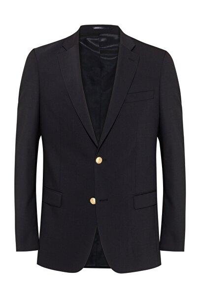 hateko Erkek Klasik Kesim 4 Drop Siyah %43 Yün Blazer Ceket  -  114298