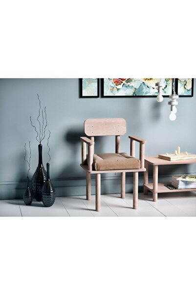 VUDIVA Magnesia Kolçaklı Sandalye Vizon